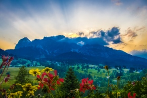 Sunset in Cortina d'Ampezzo