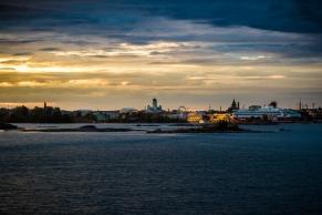 August dusk in Helsinki